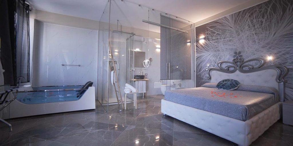 Hotel di lusso a porto cesareo con vasca idromassaggio in camera