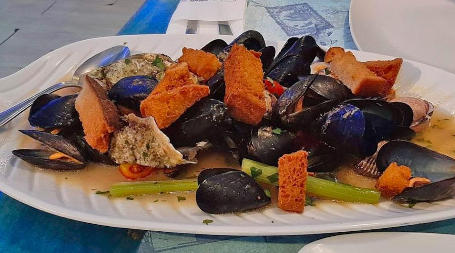 In pepata di cozze presso il ristorante la piovra a Porto cesareo