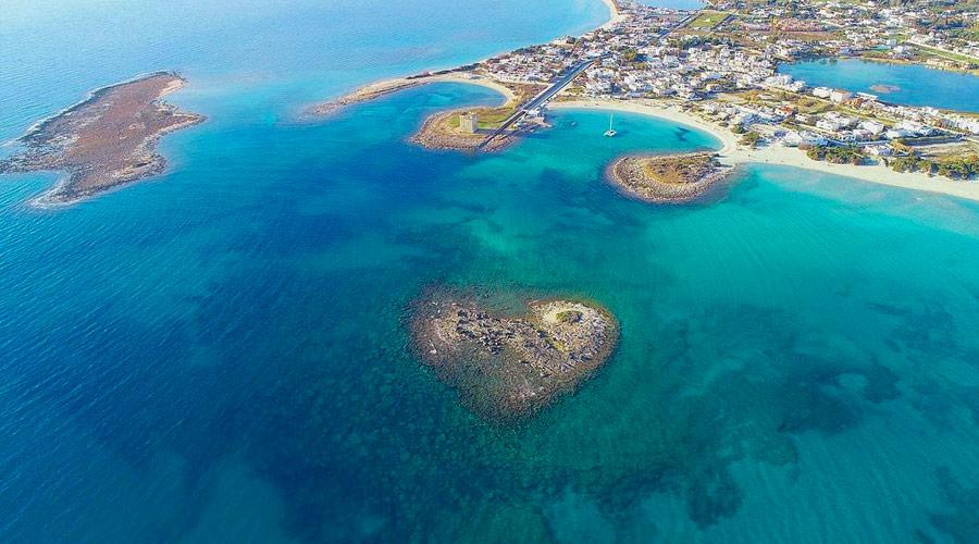 L'isola della Malva a forma di cuore è situato a porto cesareo