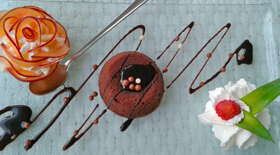 Soufflè al cioccolato Bar Principe a Porto Cesareo