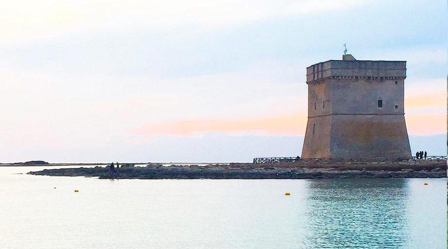 Torre Chianca al tramonto